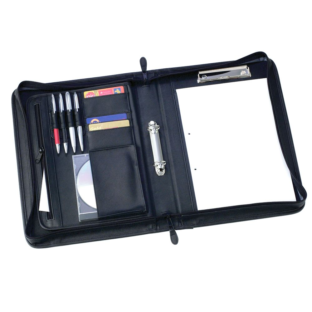 Pu A4 Zipped Conference Folder
